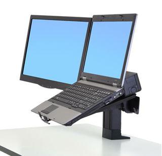 Image sur Support moniteur et portable Noir pour Workfit-T/PD, 97-907