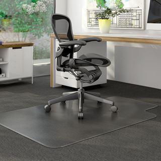 Image sur Sous chaise DURAMAT avec languette tapis poil court/moyen