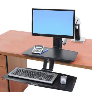 Image sur Ergotron Workfit-A, LD, clavier bas, avec surface, 24-390-026