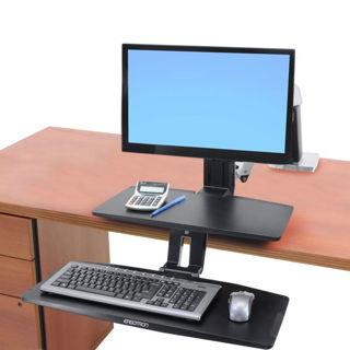 Image sur Ergotron Workfit-A, HD, clavier bas, avec surface, 24-391-026
