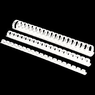 Image sur Anneaux de reliure en plastique, Blanc