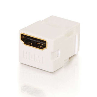 Connecteur HDMI F/F Keystone Blanc certifié 4K