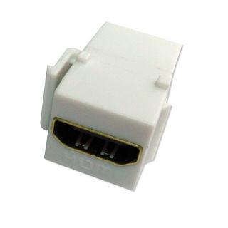 Connecteur HDMI F/F Keystone Blanc certifié HD