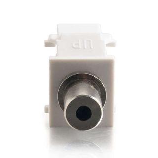 Connecteur 3.5mm F/F Keystone Blanc