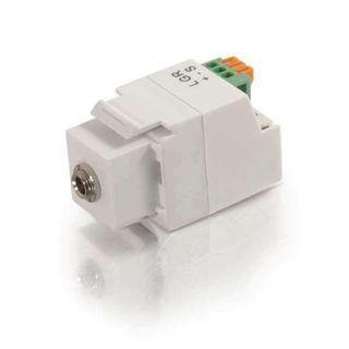 Connecteur 3.5mm F/Bornes Keystone Blanc