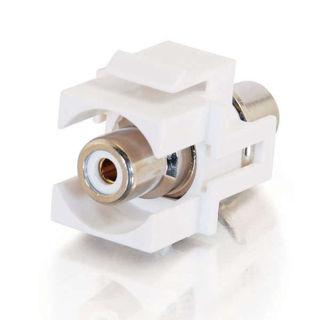 Connecteur RCA F/F Keystone Blanc