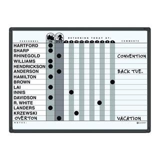 Image sur Tableau de présence magnétique Quartet