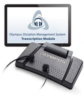 Ensemble de transcription Olympus AS9000 incluant un pédalier RS31H, un casque et le logiciel de transcription.