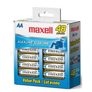 Batterie AA Alcaline en paquet économique de 48